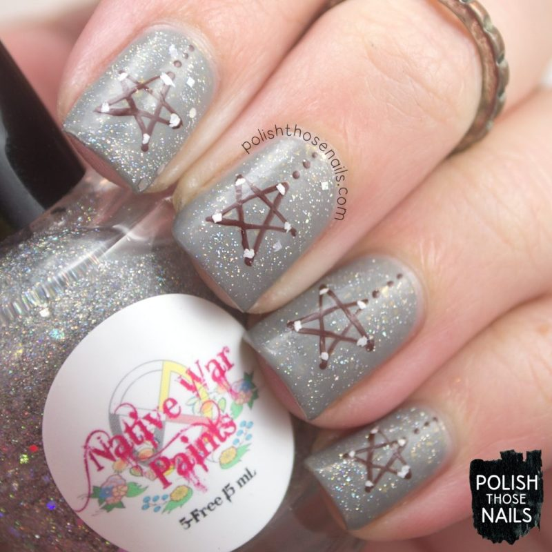 nails, nail art, nail polish, stars, polish those nails, indie polish, glitter