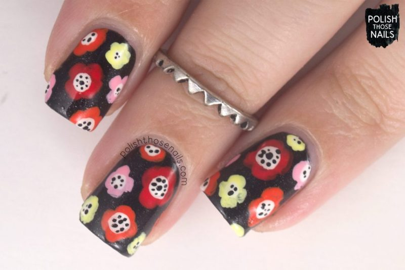 floral, power, pattern, nails, nail polish, nail art, indie polish, parallax polish, polish those nails, stat-ick-tics set