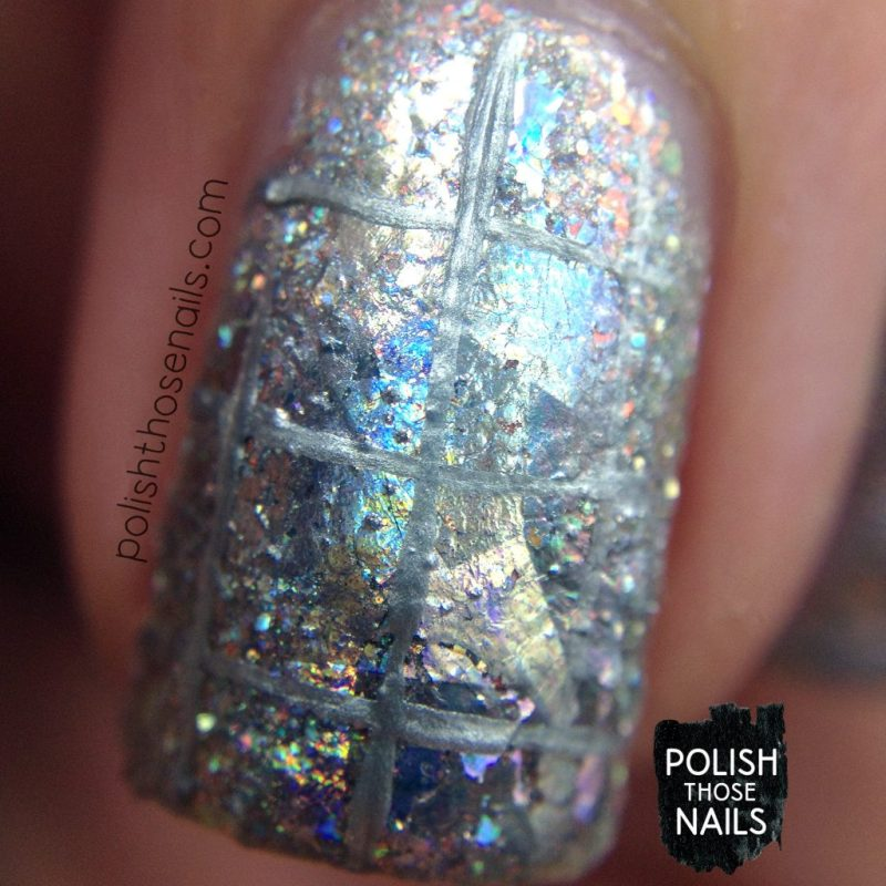 nails, nail art, nail polish, silver, holo, indie polish, polish those nails, macro
