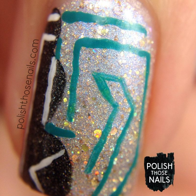 nails, nail art, nail polish, indie polish, glitter, polish those nails, x-ray, macro