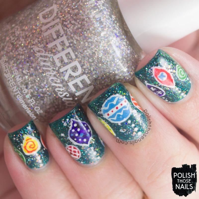 nails, nail art, nail polish, ornaments, Christmas, polish those nails, indie polish