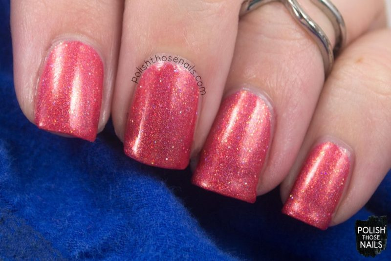 swatch, 06/16, orange, holo, love angeline, indie polish, polish those nails, nails
