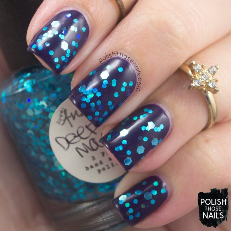 deep magic, glitter, nails, nail polish, indie polish, love angeline, polish those nails, swatch