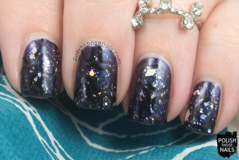 nails, nail art, nail polish, indie polish, polish those nails, darkness, multichrome