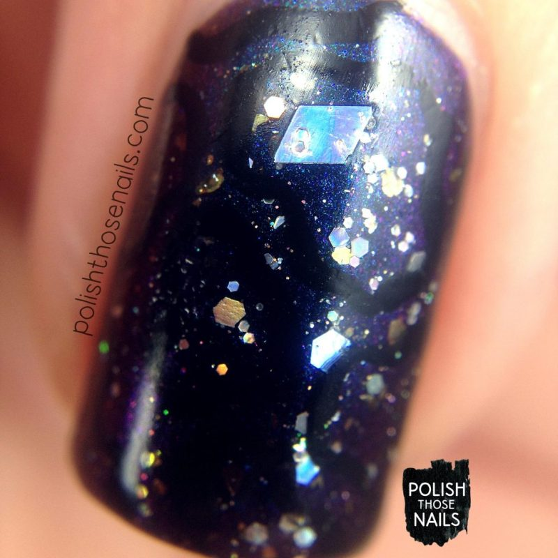 nails, nail art, nail polish, indie polish, polish those nails, darkness, multi chrome, macro