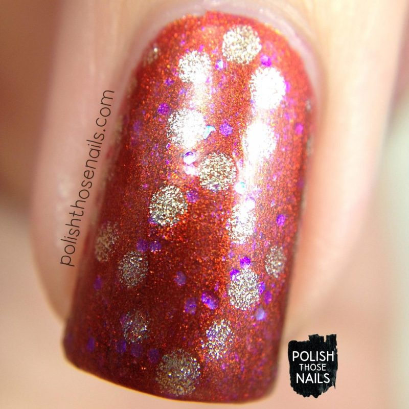 nails, nail art, nail polish, new polish, orange, polka dots, polish those nails, macro
