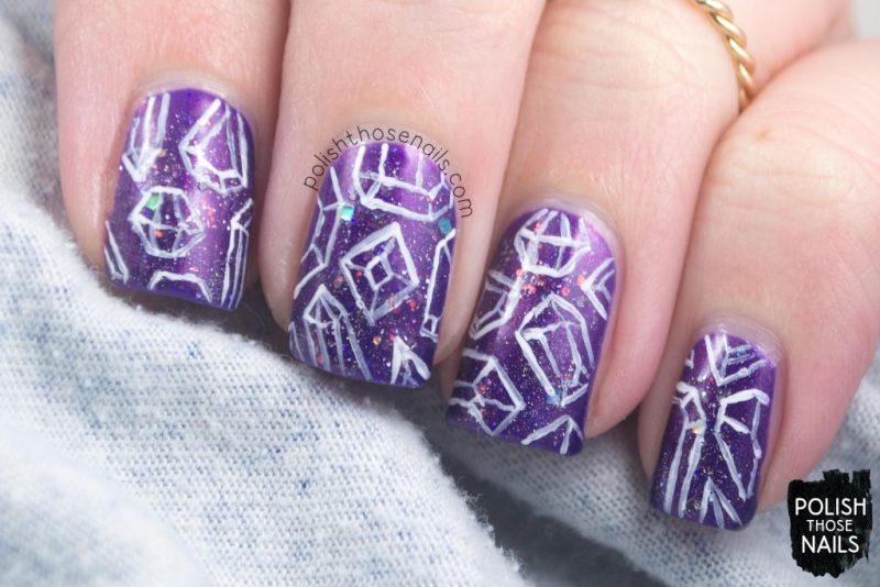 nails, nail art, nail polish, indie polish, jewels, polish those nails, purple