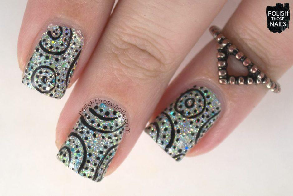 nail art, pattern, pier pressure, nails, nail polish, indie polish, different dimension, polish those nails, glitter