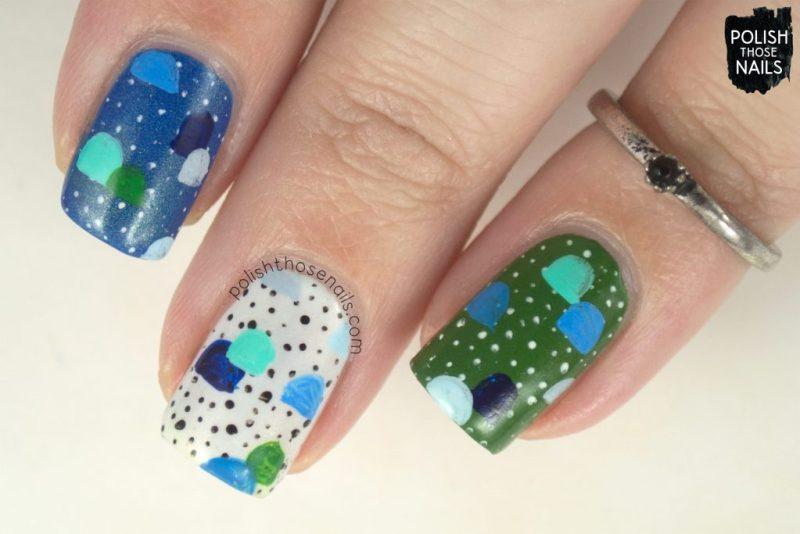 nails, nail art, nail polish, shimmer, skittles, polish those nails, indie polish, polka dots