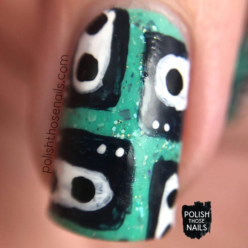 nails, nail art, nail polish, indie polish, turquoise, casette tape, polish those nails, macro