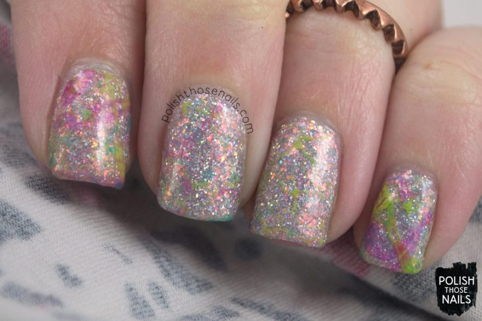 nail art, watermarble, nails, nail polish, different dimension, glitter, polish those nails, indie polish
