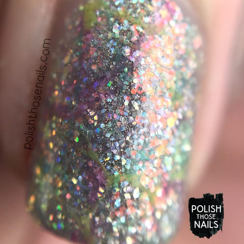 nail art, watermarble, nails, nail polish, different dimension, glitter, polish those nails, indie polish, macro