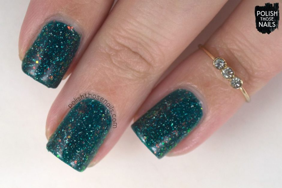 helix nebula, teal, nails, nail polish, indie polish, different dimension, polish those nails, glitter jelly, swatch