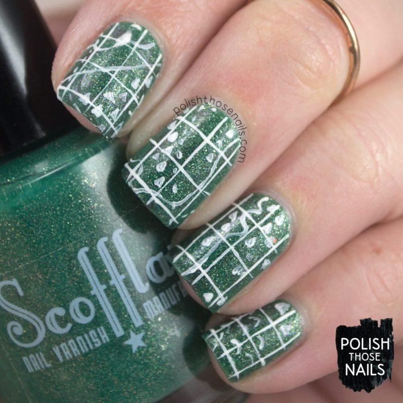 nails, nail art, nail polish, indie polish, green, shimmer, book inspired, polish those nails