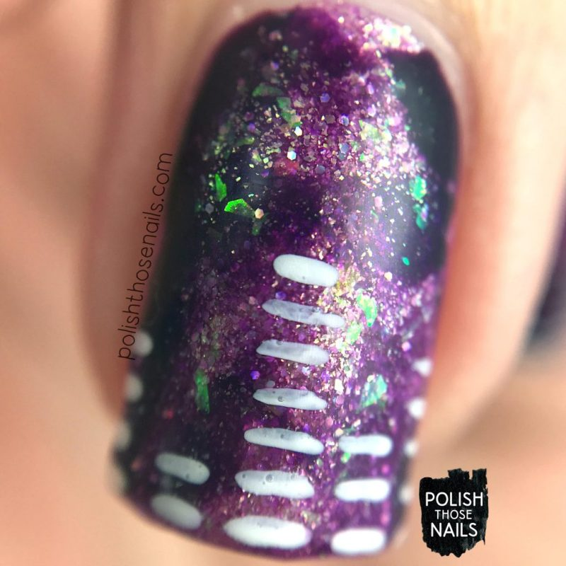 nails, nail art, nail polish, music, purple, smoosh, polish those nails, indie polish, macro