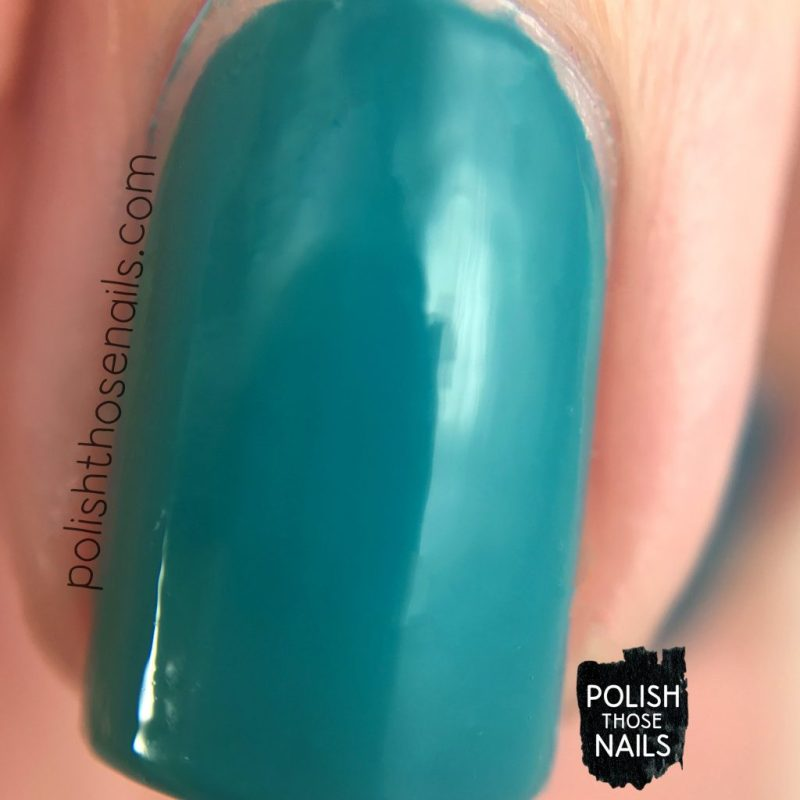 teal good, creme, teal, color therapy, swatch, nails, nail polish, sally hansen, press sample, polish those nails, macro