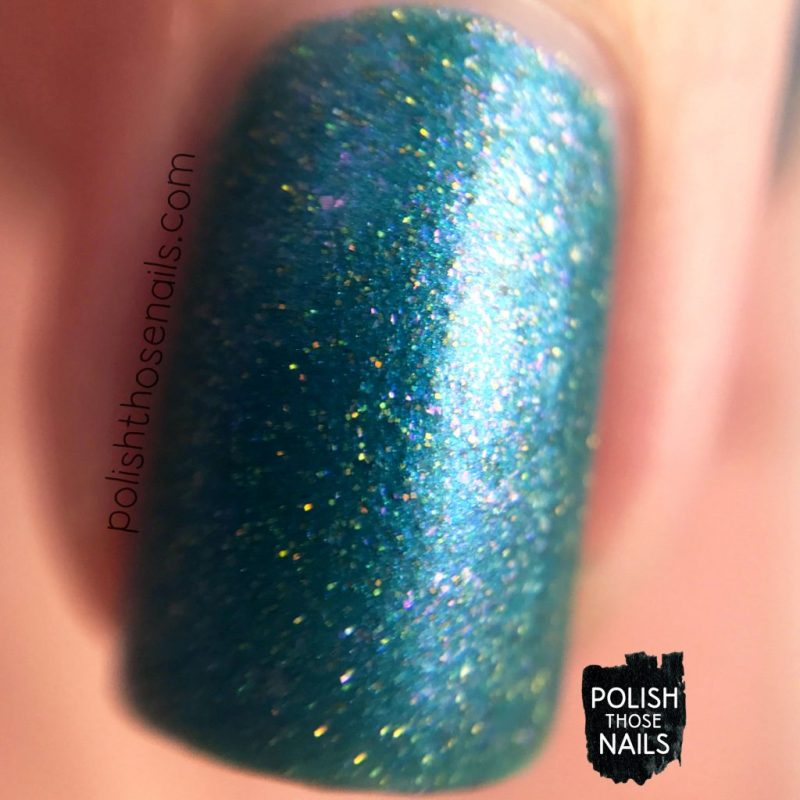 macro, swatch, nails, nail polish, indie polish, sweet & sour lacquer, polish those nails, june 2017, turquoise, shimmer