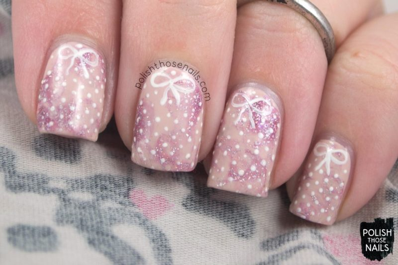 nails, nail art, nail polish, polish those nails, polka dots, pink,