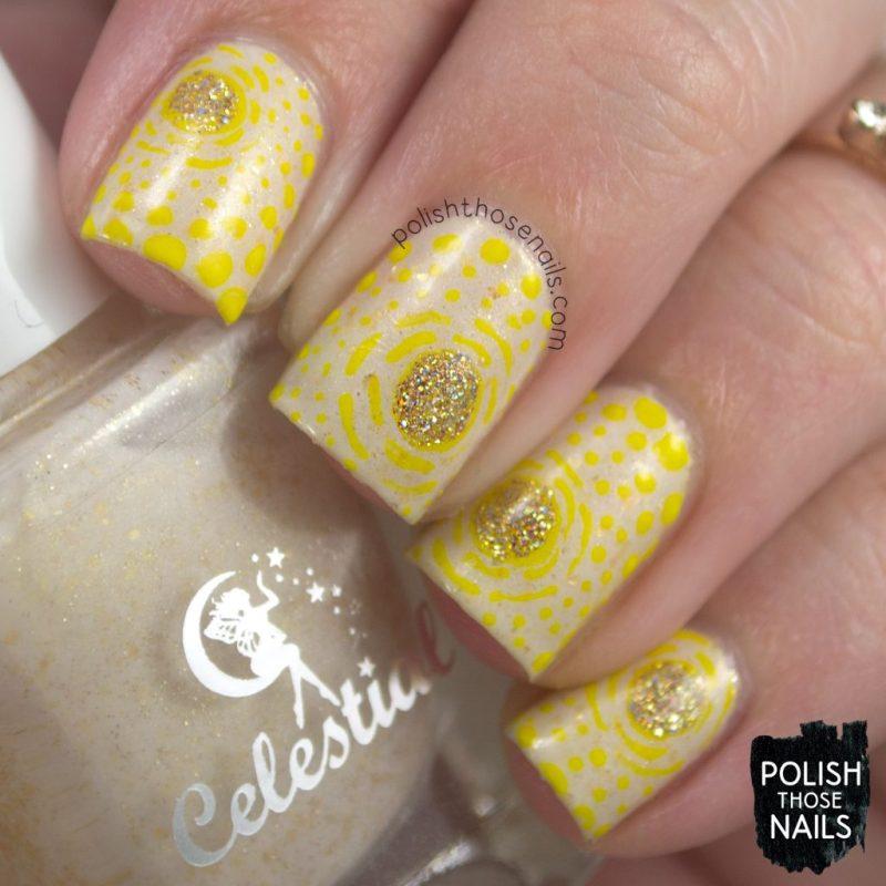 nails, nail art, nail polish, yellow, polish those nails, indie polish, gold