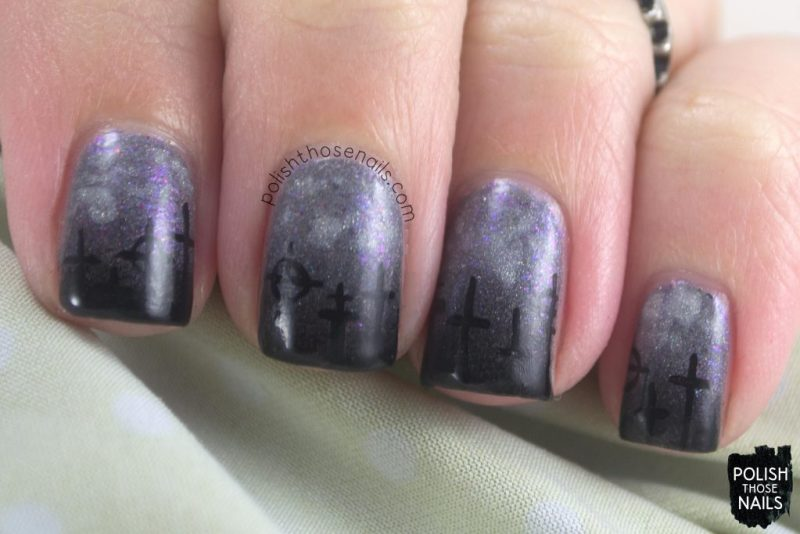 nails, nail art, nail polish, cemetery, polish those nails, halloween