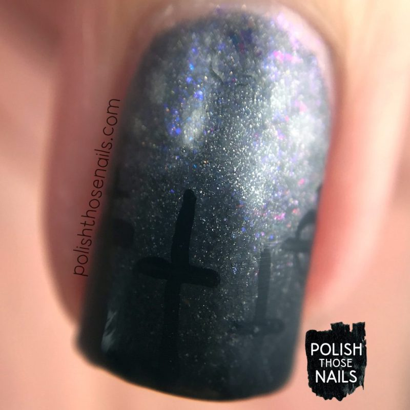 nails, nail art, nail polish, cemetery, polish those nails, halloween, macro