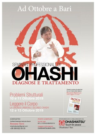 Locandina Ohashi a Bari dal 10 al 13 ottobre 2019