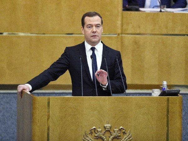 Дмитрий Медведев на заседании Государственной думы