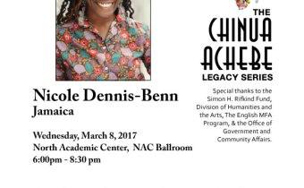 Author Nicole Dennis-Benn Appearance March 8th