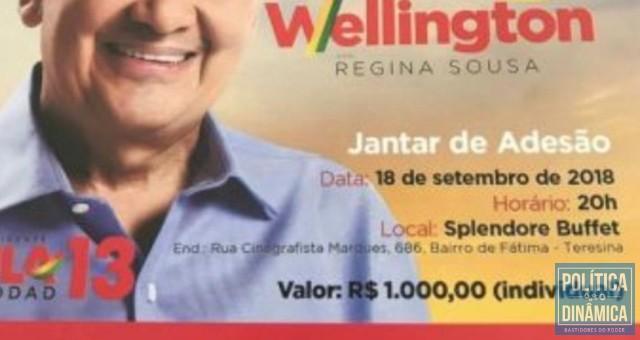 Mesmo com o preço de mil reais no convite, teve gente que deu menos e teve gente que deu bem mais (foto: Facebook)