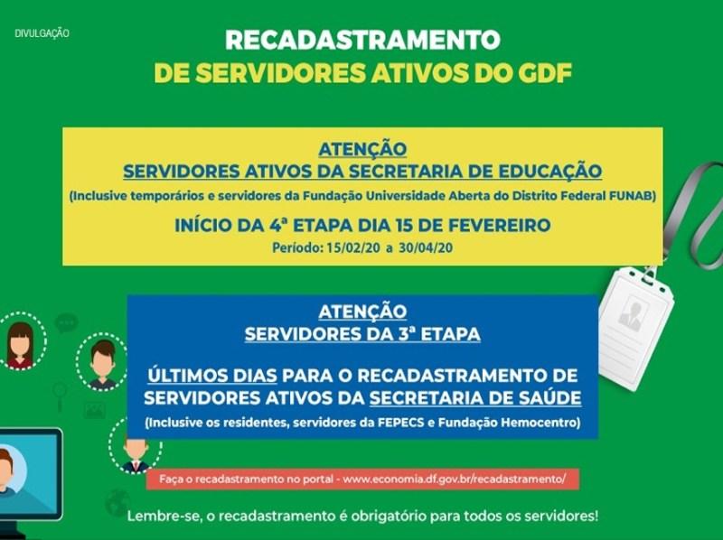 Resultado de imagem para Recadastramento de servidores da Educação começa neste sábado (15)