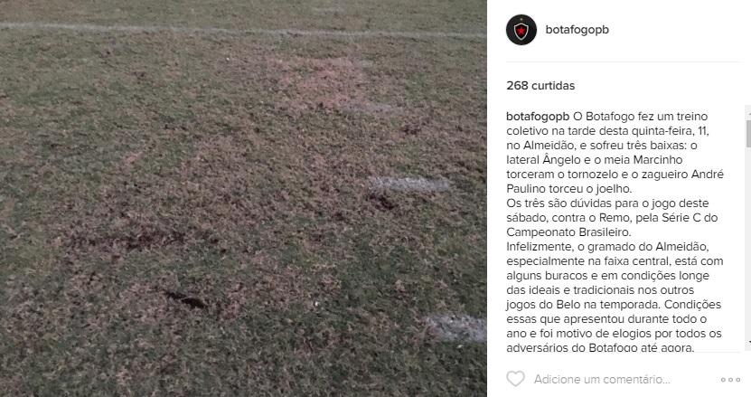 Botafogo reclama