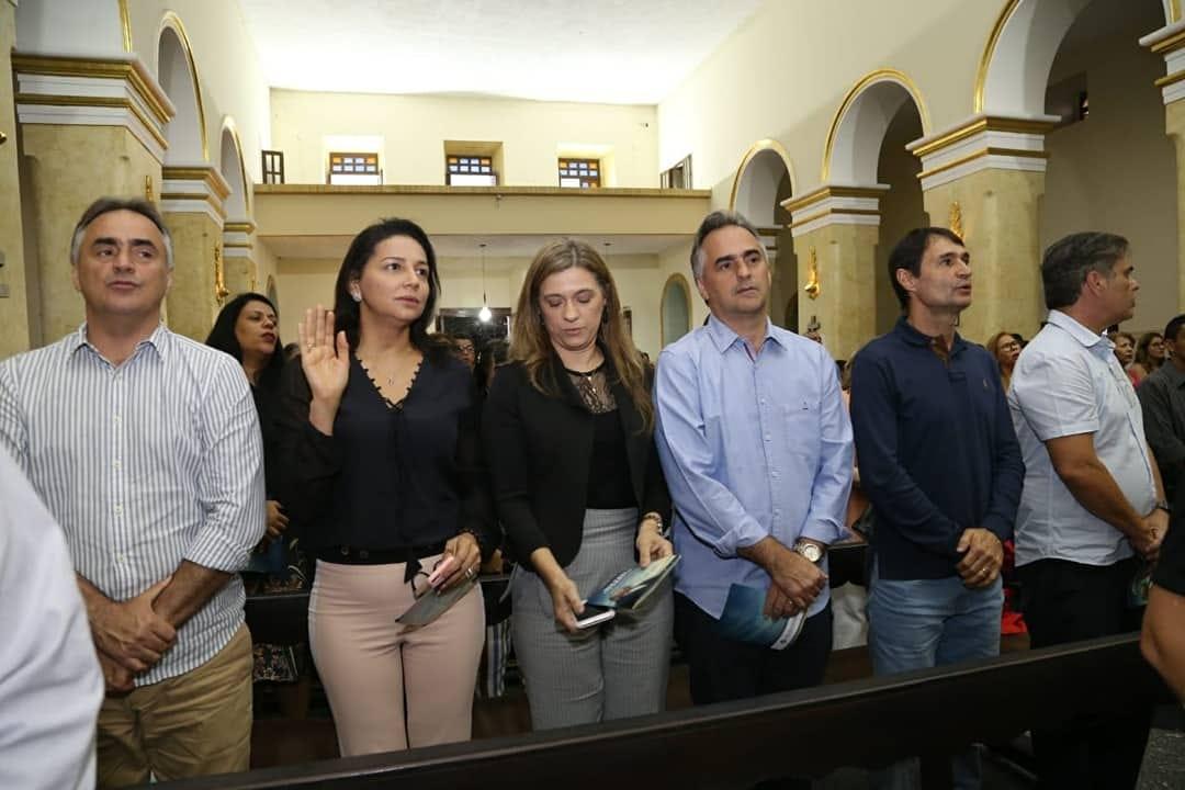 Romero, Cássio, Luciano e Lucélio participam de missa de sétimo dia do deputado Rômulo Gouveia