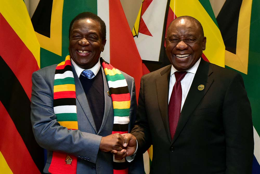 Cyril Ramaphosa congratulates Emmerson Mnangagwa on presidential win
