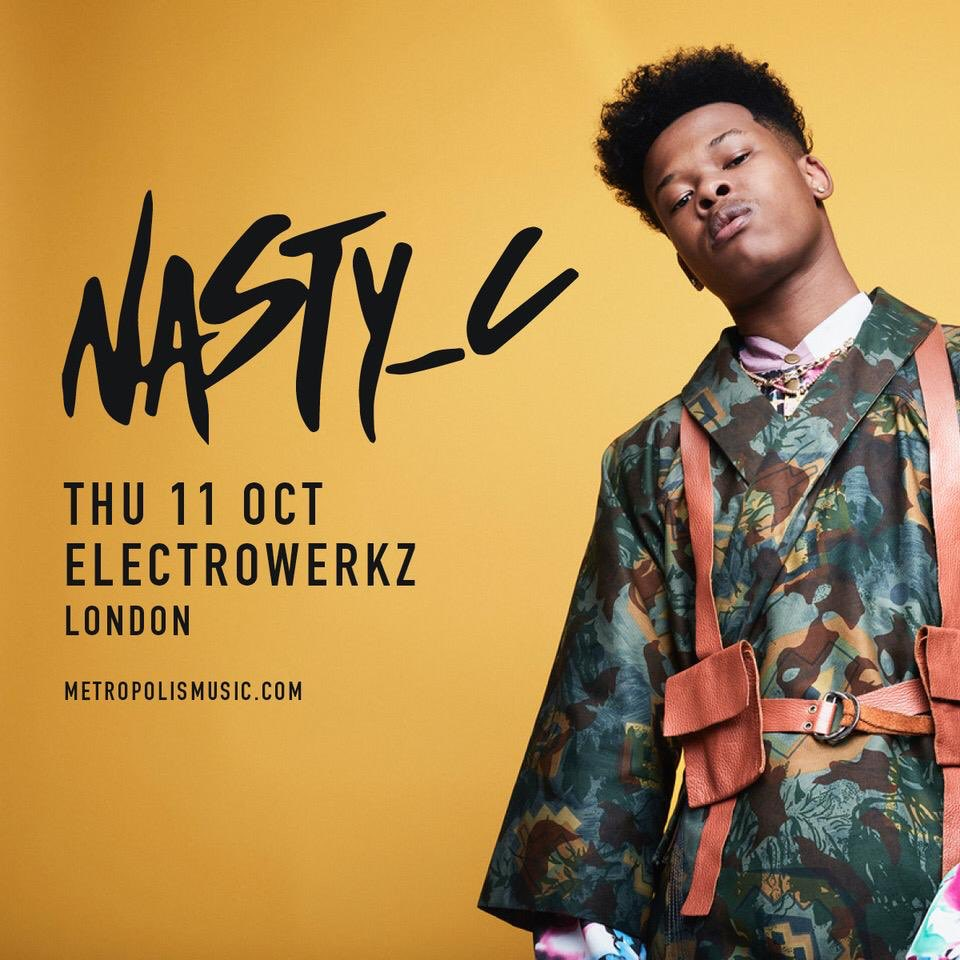 Nasty C to perform in London on Thursday