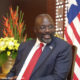 Liberian President George Weah celebrates his second year in office