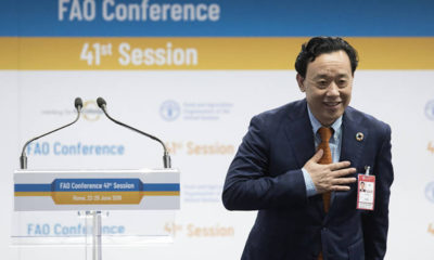 Qu Dongyu elected as FAO's new Director General