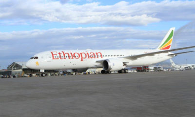 Ethiopian Airlines cargo plane catches alight
