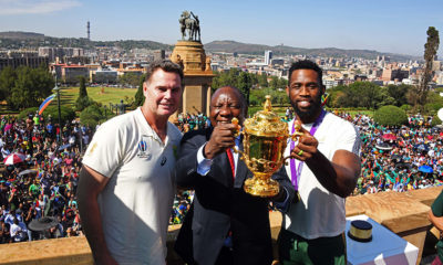 South Africa 's Springboks kick off their national heroes' tour in Pretoria