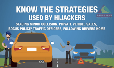 Arrive Alive provides tips on How to Prevent a Potential Hijacking