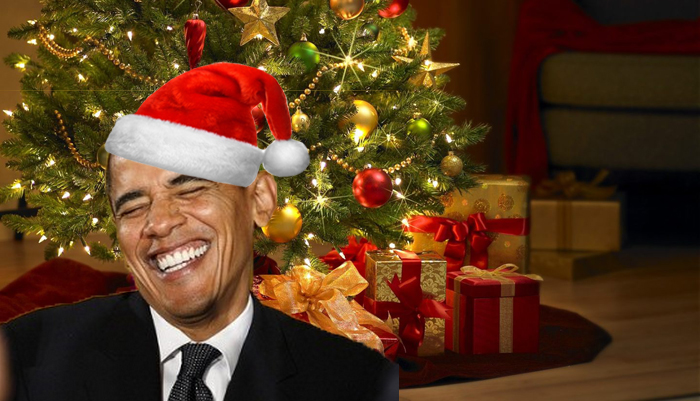 Obama Christmas.Obama Mistakenly Receives Early Christmas Card From Defense