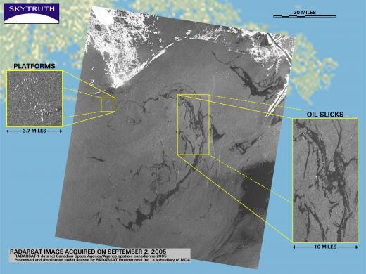 Katrina oil spills