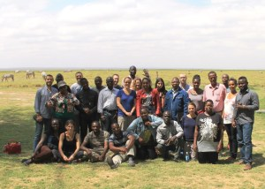 group photo at Ol Tukai Lodge (Amboseli)