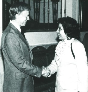 Donna Shalala with former President Jimmy Carter