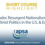 Short Course: Gender, Resurgent Nationalism & Masculinist Politics in the U.S. & Europe