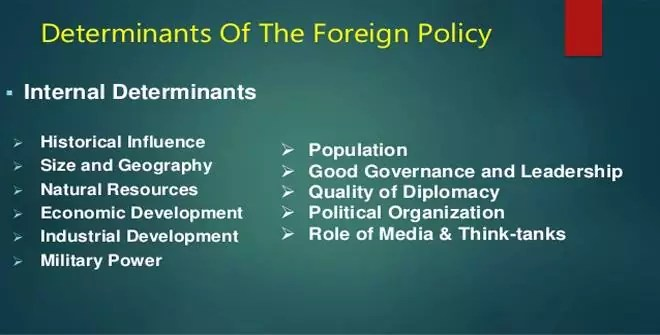 Determinants of Foreign Policy