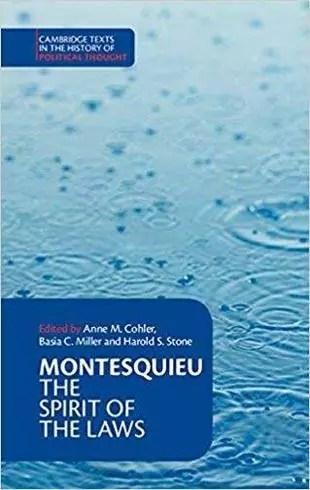 Montesquieu The Spirit of the Laws
