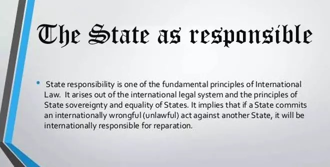 The State as responsible