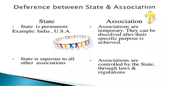 Differences between the State and Other Associations