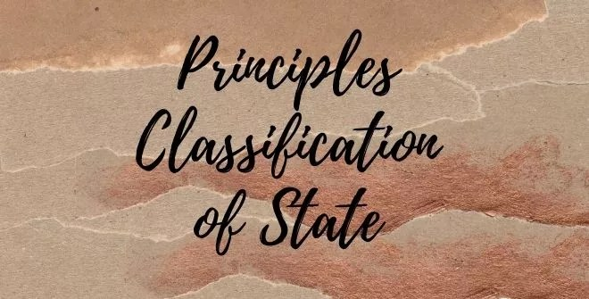 Principles Classification of State