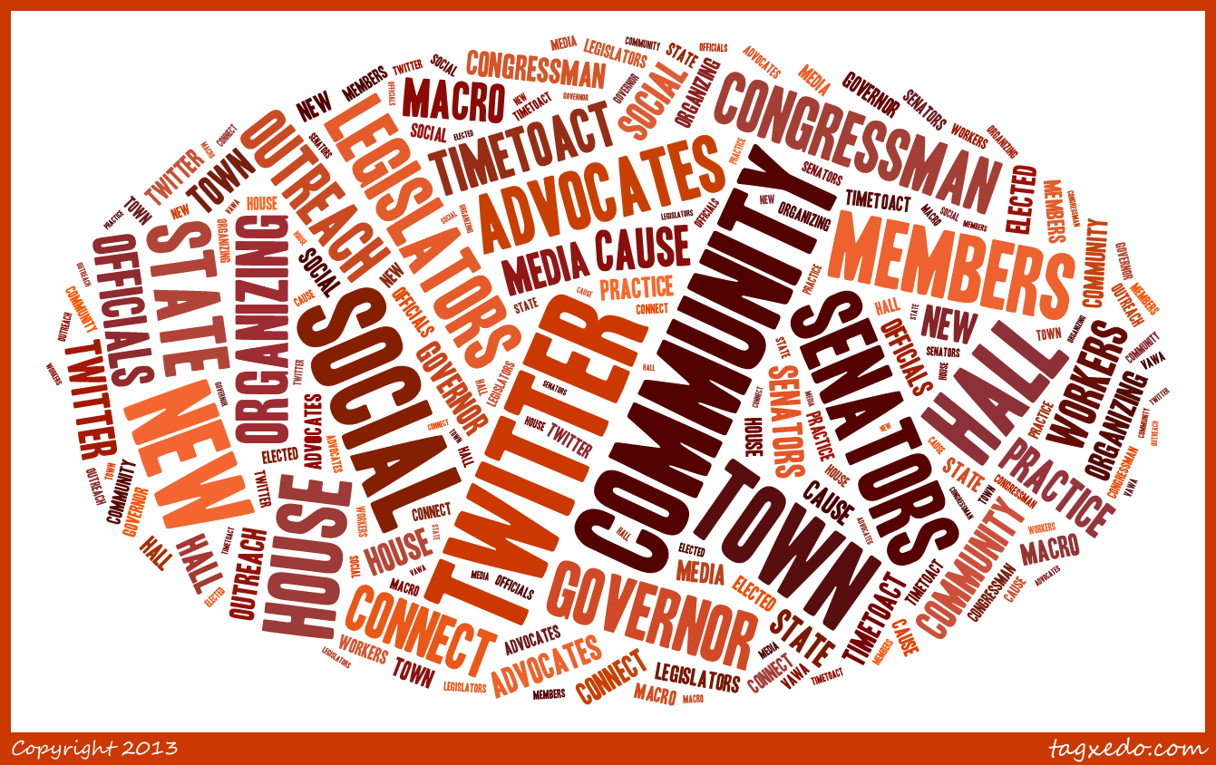 e-advocacy word cloud